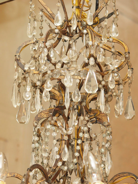 Italian 18th c gilt iron and crystal corona chandelier kevin italian 18th c gilt iron and crystal corona chandelier mozeypictures Images