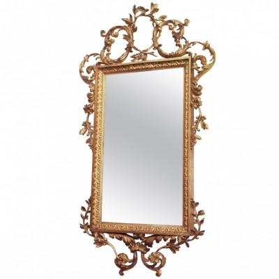 Italian Louis XV Giltwood Mirror
