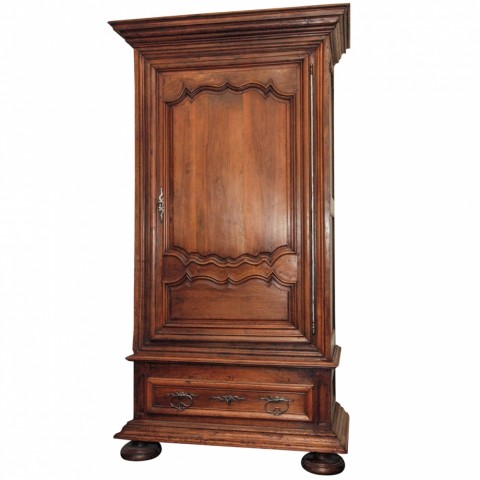 18th c. French Walnut Grand Bonnetiere