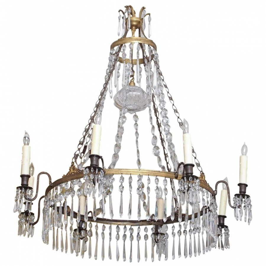 Swedish bronze and crystal chandelier kevin stone antiques interiors swedish bronze and crystal chandelier aloadofball Image collections
