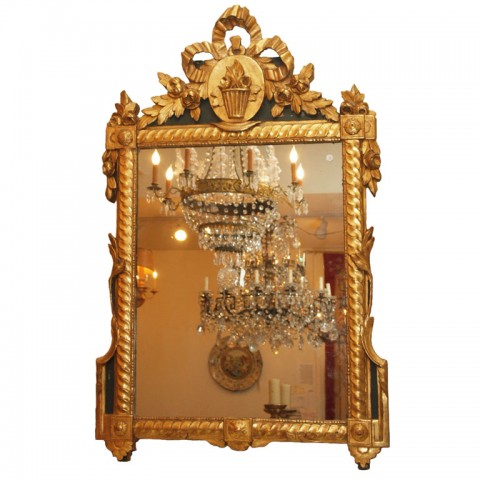 PERIOD LOUIS XVI PARCEL GILT MIRROR