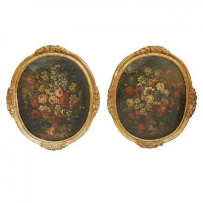 PAIR OF 18TH C NATURE MORTE