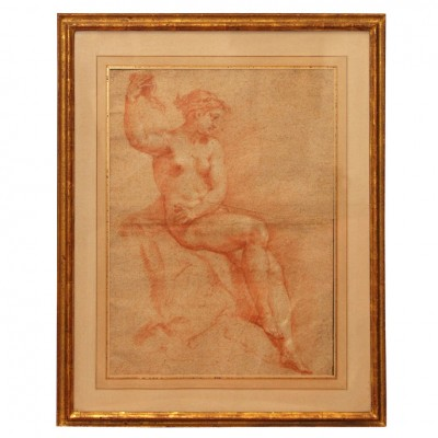 18TH C, FRENCH SANGUINE DRAWING