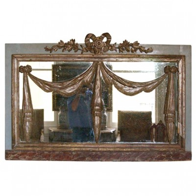 Paint and Parcel Silver Gilt Venetian Mirror
