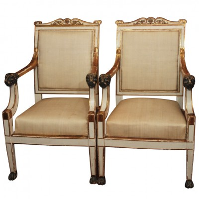 Pair Of Signed Jacob Armchairs
