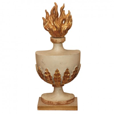 French Architectural Element Flaming Urn