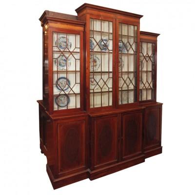 English George III Breakfront Bookcase