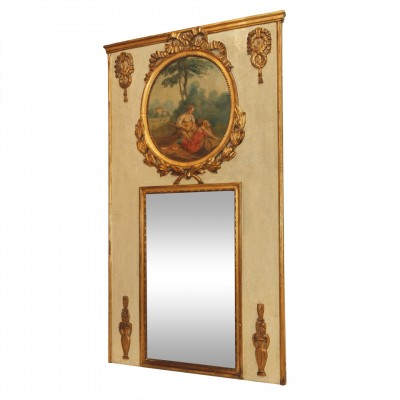 19th c. French Louis XV style Trumeau MIrror