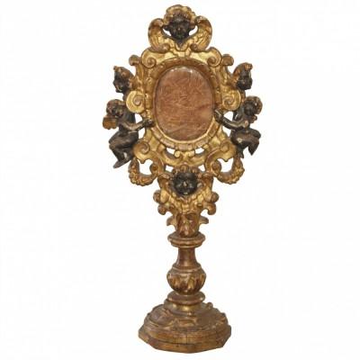 18th C. Italian Parcel Gilt Reliquary