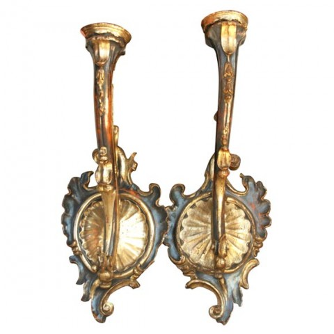 PAIR OF TUSCAN LARGE SCALE WALL SCONCES