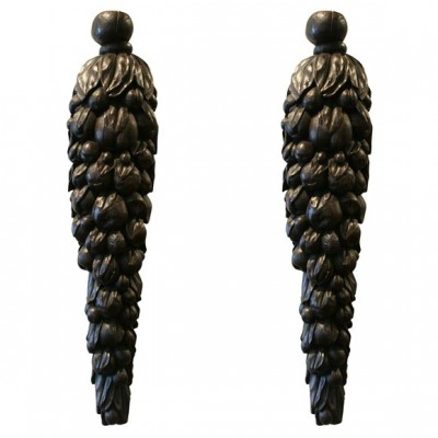 Carved Wood Fruit Swags