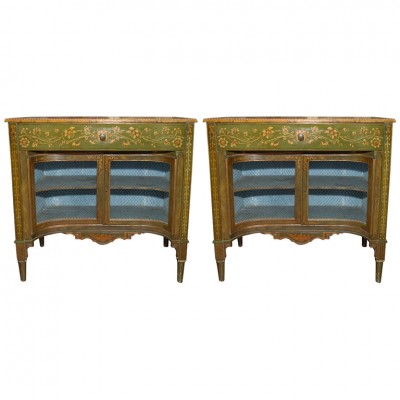 RARE PAIR OF PAINTED ITALIAN CABINETS