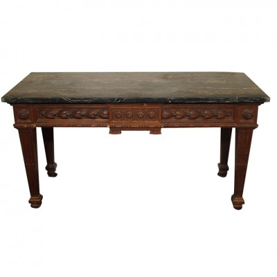 FRENCH LOUIS XVI CONSOLE TABLE WITH MARBLE TOP
