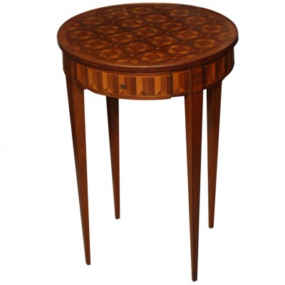 FRENCH MARQUETRY ROUND TABLE