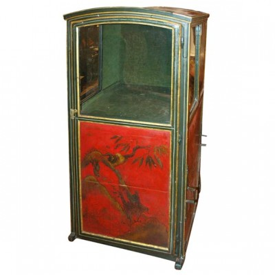 18th c. Red Chinoiserie Sedan Chair