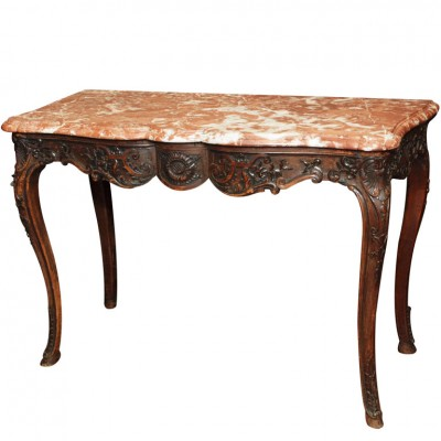18th C. Provencal Walnut Console