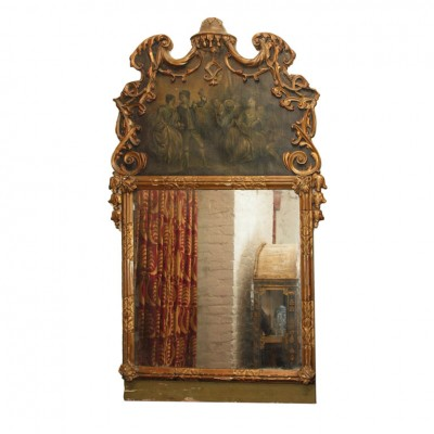 Exceptional 18th Century Venetian Trumeau Mirror