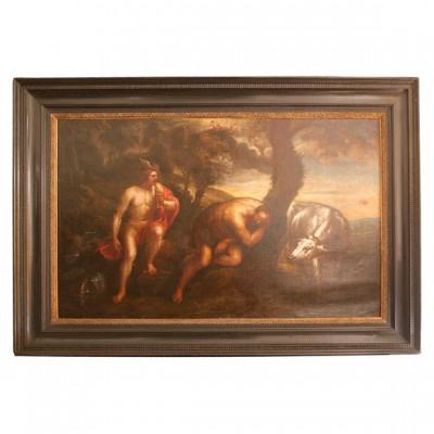 17th c. Italian Allegorical Oil on Canvas