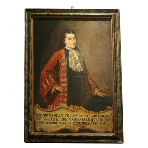 Pair of 18th c Italian Portraits of Noblemen