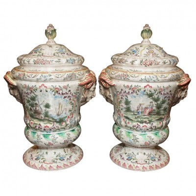 Pair of V.P. Covered Jars