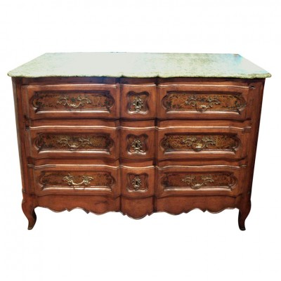 PERIOD LOUIS XV MARBLE TOP COMMODE