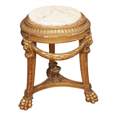 Gilt Wood Porte Potiche (Fishbowl Stand)