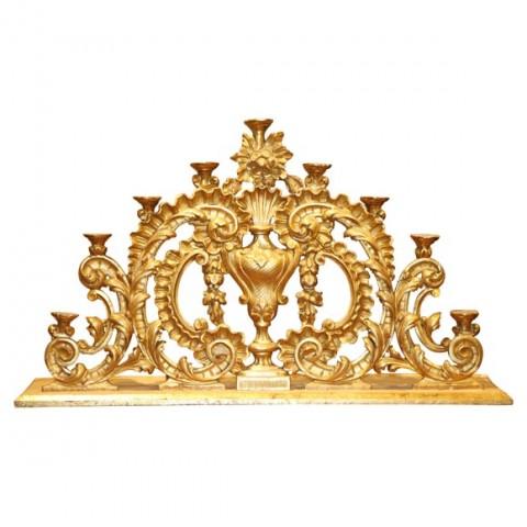 Large Italian Carved Gilt wood Altar Candelabra
