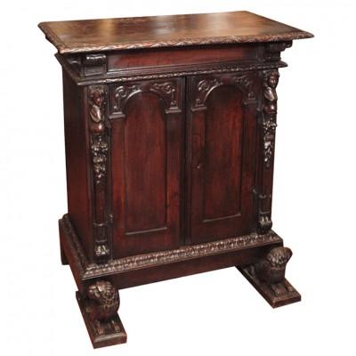 17th C. Italian Walnut Two Door Cabinet