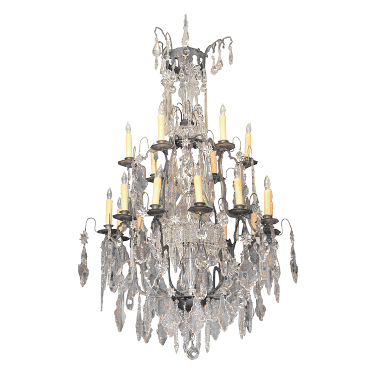 Period Louis XIV Bronze And Crystal Chandelier: Kevin Stone ...