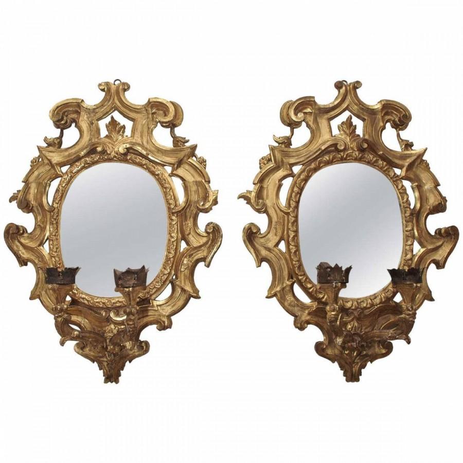 Pair of Italian Girandole Mirrors