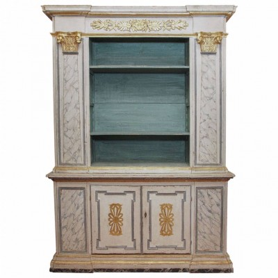18th c. Italian and Gilt Painted Bookcase