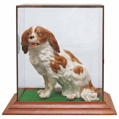 Vienna Porcelain figure of Cavalier King Charles Spaniel