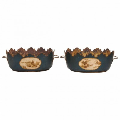 Pair of 19th Century Tole Monteith