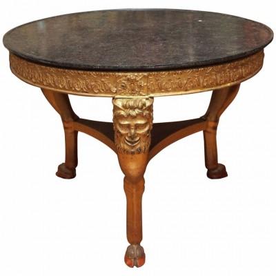 French Charles X Gilt Table De Milieu