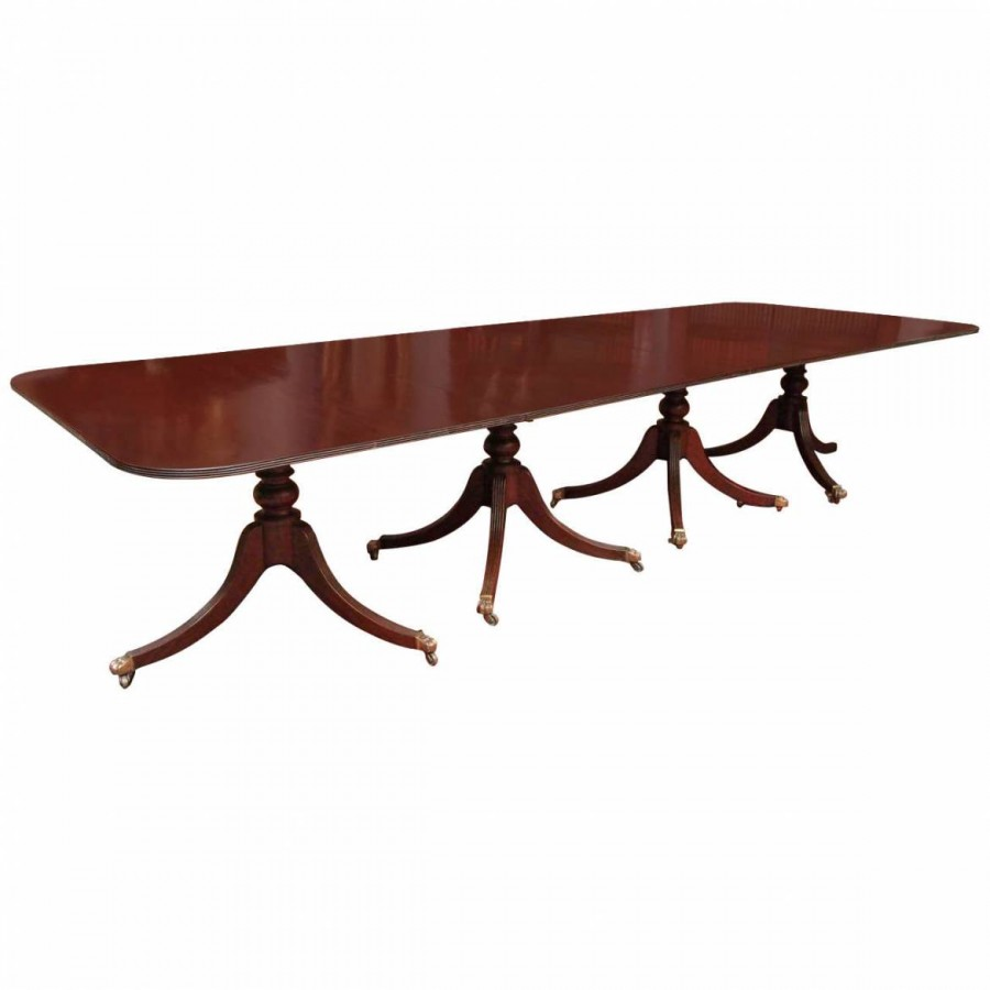 Large Four Pedestal Georgian Dining Table Kevin Stone