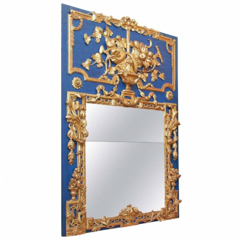 Louis XVI Giltwood and Painted Trumeau Mirror