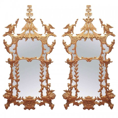 Pair of 19th Century Chinese Chippendale Style Mirrors
