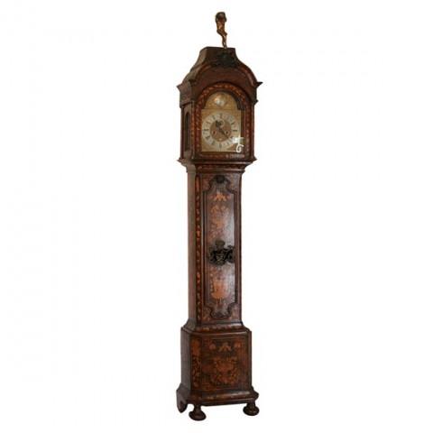 18th Century Dutch Marquetry Tall Case Clock