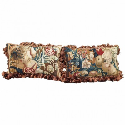 17th Century Aubusson Tapestry Fragments Now as Cushions