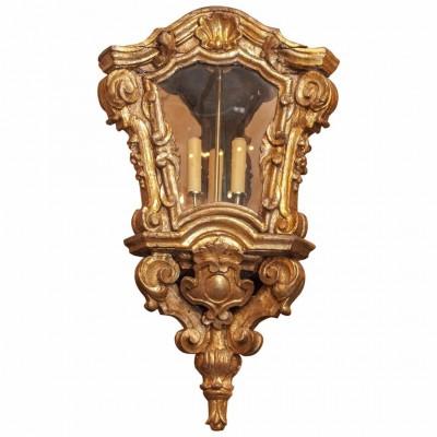 Italian Baroque Giltwood Lantern