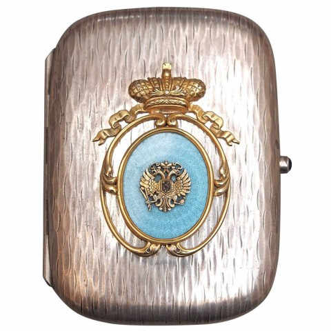 Russian 88 Silver Cigarette Case