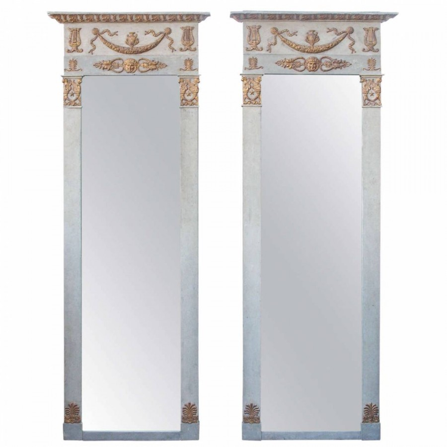 One Period French Empire Painted and Parcel Gilt Mirrors