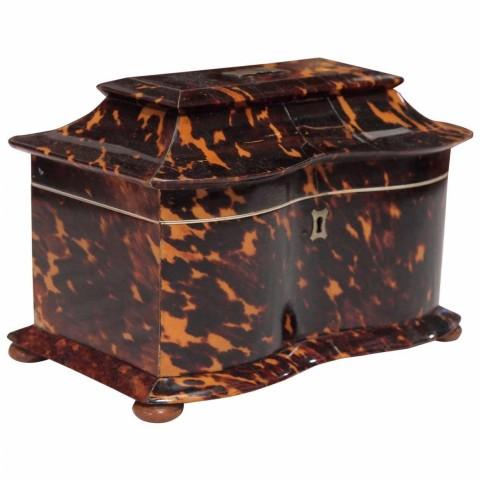 English Regency Pagoda Form Tea Caddy