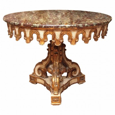 Italian Painted and Parcel Gilt Round Table