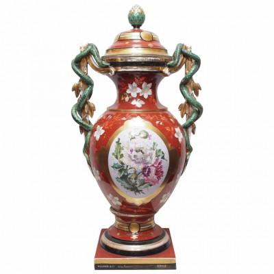 French Vieux Paris Lidded Apothecary Jar