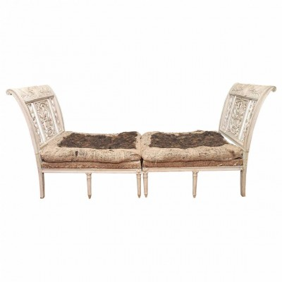 French Provencal Directoire Lit Brisee