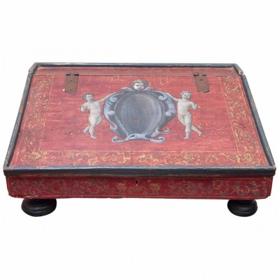 Italian Painted Slope-Top Lap Desk
