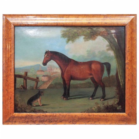 Portrait of a Horse in Naive Setting, Painting