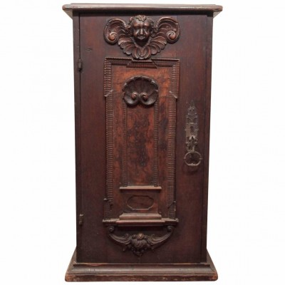 Italian Walnut Single-Door Cabinet
