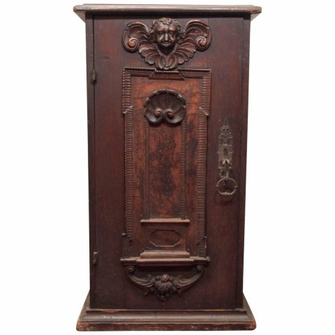 Italian Walnut Single-Door Cabinet